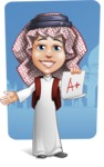 Cute Muslim Kid Cartoon Vector Character AKA Ayman - Shape 9