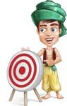 Young Arab Man with Turban Cartoon Vector Character AKA Amir - Target