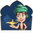 Young Arab Man with Turban Cartoon Vector Character AKA Amir - Shape 2