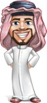 Middle Eastern Man Cartoon Vector Character AKA Faysal the Decisive - Normal