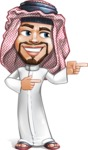Middle Eastern Man Cartoon Vector Character AKA Faysal the Decisive - Point 2
