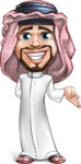 Middle Eastern Man Cartoon Vector Character AKA Faysal the Decisive - Sorry