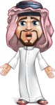 Middle Eastern Man Cartoon Vector Character AKA Faysal the Decisive - Stunned