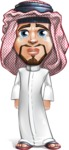 Middle Eastern Man Cartoon Vector Character AKA Faysal the Decisive - Sad