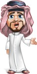 Middle Eastern Man Cartoon Vector Character AKA Faysal the Decisive - Sad 2