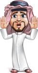 Middle Eastern Man Cartoon Vector Character AKA Faysal the Decisive - Shocked