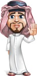 Middle Eastern Man Cartoon Vector Character AKA Faysal the Decisive - Good Bye