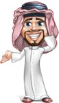 Middle Eastern Man Cartoon Vector Character AKA Faysal the Decisive - Oops