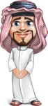 Middle Eastern Man Cartoon Vector Character AKA Faysal the Decisive - Patient