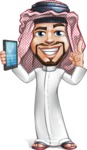 Middle Eastern Man Cartoon Vector Character AKA Faysal the Decisive - Support