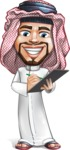 Middle Eastern Man Cartoon Vector Character AKA Faysal the Decisive - Note