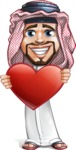 Middle Eastern Man Cartoon Vector Character AKA Faysal the Decisive - Love
