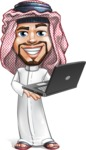 Middle Eastern Man Cartoon Vector Character AKA Faysal the Decisive - Laptop 3