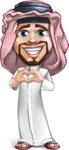 Middle Eastern Man Cartoon Vector Character AKA Faysal the Decisive - Laptop 4