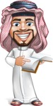 Middle Eastern Man Cartoon Vector Character AKA Faysal the Decisive - Book 1