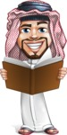 Middle Eastern Man Cartoon Vector Character AKA Faysal the Decisive - Book 2