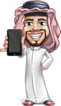 Middle Eastern Man Cartoon Vector Character AKA Faysal the Decisive - iPhone