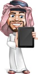 Middle Eastern Man Cartoon Vector Character AKA Faysal the Decisive - iPad 1