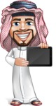 Middle Eastern Man Cartoon Vector Character AKA Faysal the Decisive - iPad 2