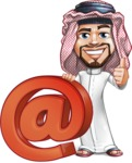 Middle Eastern Man Cartoon Vector Character AKA Faysal the Decisive - Web