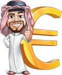 Middle Eastern Man Cartoon Vector Character AKA Faysal the Decisive - Euro