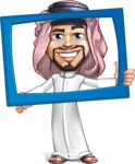 Middle Eastern Man Cartoon Vector Character AKA Faysal the Decisive - Frame