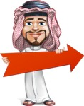 Middle Eastern Man Cartoon Vector Character AKA Faysal the Decisive - Arrow 2