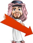 Middle Eastern Man Cartoon Vector Character AKA Faysal the Decisive - Arrow 3