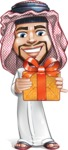 Middle Eastern Man Cartoon Vector Character AKA Faysal the Decisive - Gift