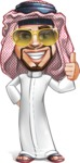 Middle Eastern Man Cartoon Vector Character AKA Faysal the Decisive - Sunglasses