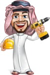Middle Eastern Man Cartoon Vector Character AKA Faysal the Decisive - Under Construction