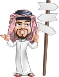 Middle Eastern Man Cartoon Vector Character AKA Faysal the Decisive - Crossword