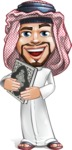 Middle Eastern Man Cartoon Vector Character AKA Faysal the Decisive - Old Book