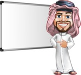 Middle Eastern Man Cartoon Vector Character AKA Faysal the Decisive - Presentation 1