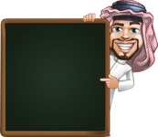 Middle Eastern Man Cartoon Vector Character AKA Faysal the Decisive - Presentation 2
