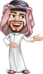 Middle Eastern Man Cartoon Vector Character AKA Faysal the Decisive - Show 2