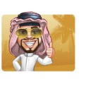 Middle Eastern Man Cartoon Vector Character AKA Faysal the Decisive - Shape 1