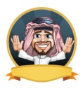 Middle Eastern Man Cartoon Vector Character AKA Faysal the Decisive - Shape 4