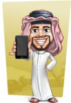 Middle Eastern Man Cartoon Vector Character AKA Faysal the Decisive - Shape 10