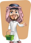 Middle Eastern Man Cartoon Vector Character AKA Faysal the Decisive - Shape 12