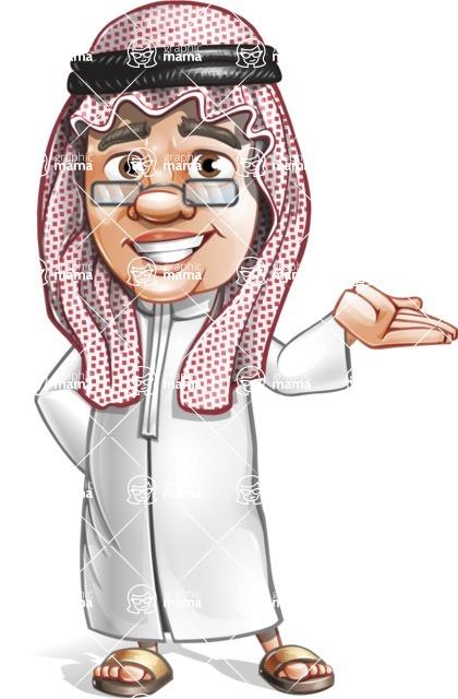 Saudi Arab Man Cartoon Vector Character AKA Wazir the Advisor - Sorry