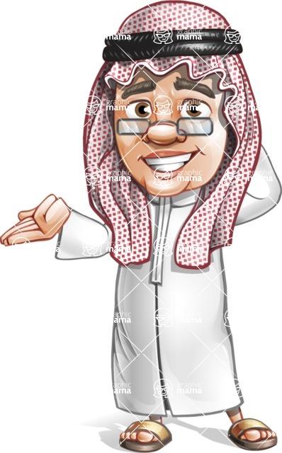 Saudi Arab Man Cartoon Vector Character AKA Wazir the Advisor - Oops