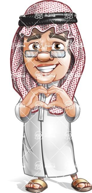 Saudi Arab Man Cartoon Vector Character AKA Wazir the Advisor - Laptop 4