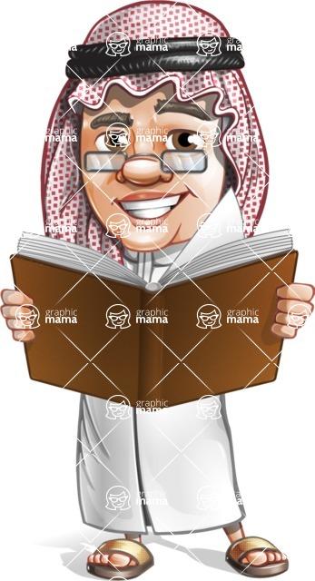 Saudi Arab Man Cartoon Vector Character AKA Wazir the Advisor - Book 2