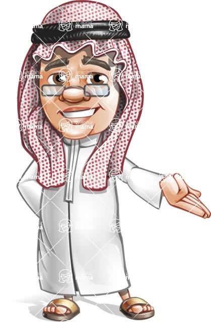 Saudi Arab Man Cartoon Vector Character AKA Wazir the Advisor - Showcase