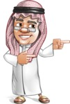 Saudi Arab Man Cartoon Vector Character AKA Wazir the Advisor - Point 2