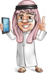 Saudi Arab Man Cartoon Vector Character AKA Wazir the Advisor - Support