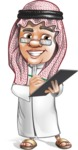 Saudi Arab Man Cartoon Vector Character AKA Wazir the Advisor - Note
