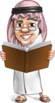 Saudi Arab Man Cartoon Vector Character AKA Wazir the Advisor - Book 2