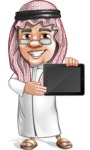 Saudi Arab Man Cartoon Vector Character AKA Wazir the Advisor - iPad 2
